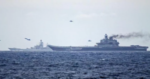Source: Norwegian Navy, Russian Flagship Aircraft Carrier Kuznetsov headed for the English Chanel